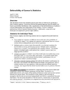 Caveon White Paper: Defensibility of Caveon's Statistics