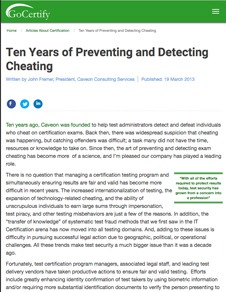 Caveon White Paper: Ten Years of Preventing and Detecting Cheating