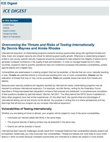 White Paper: Overcoming the Threats and Risks of Testing Internationally