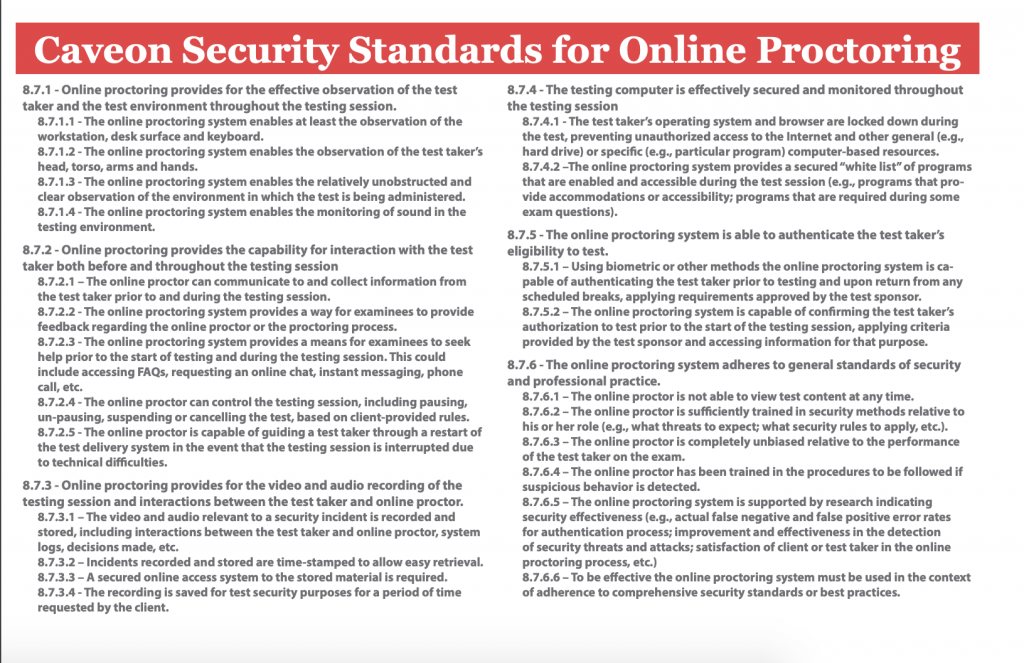 Security Threats to Online Proctoring: White Paper