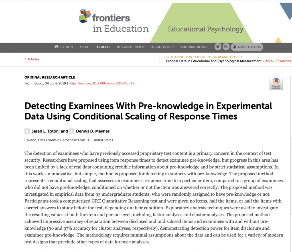 Detecting Examinees with Pre-Knowledge