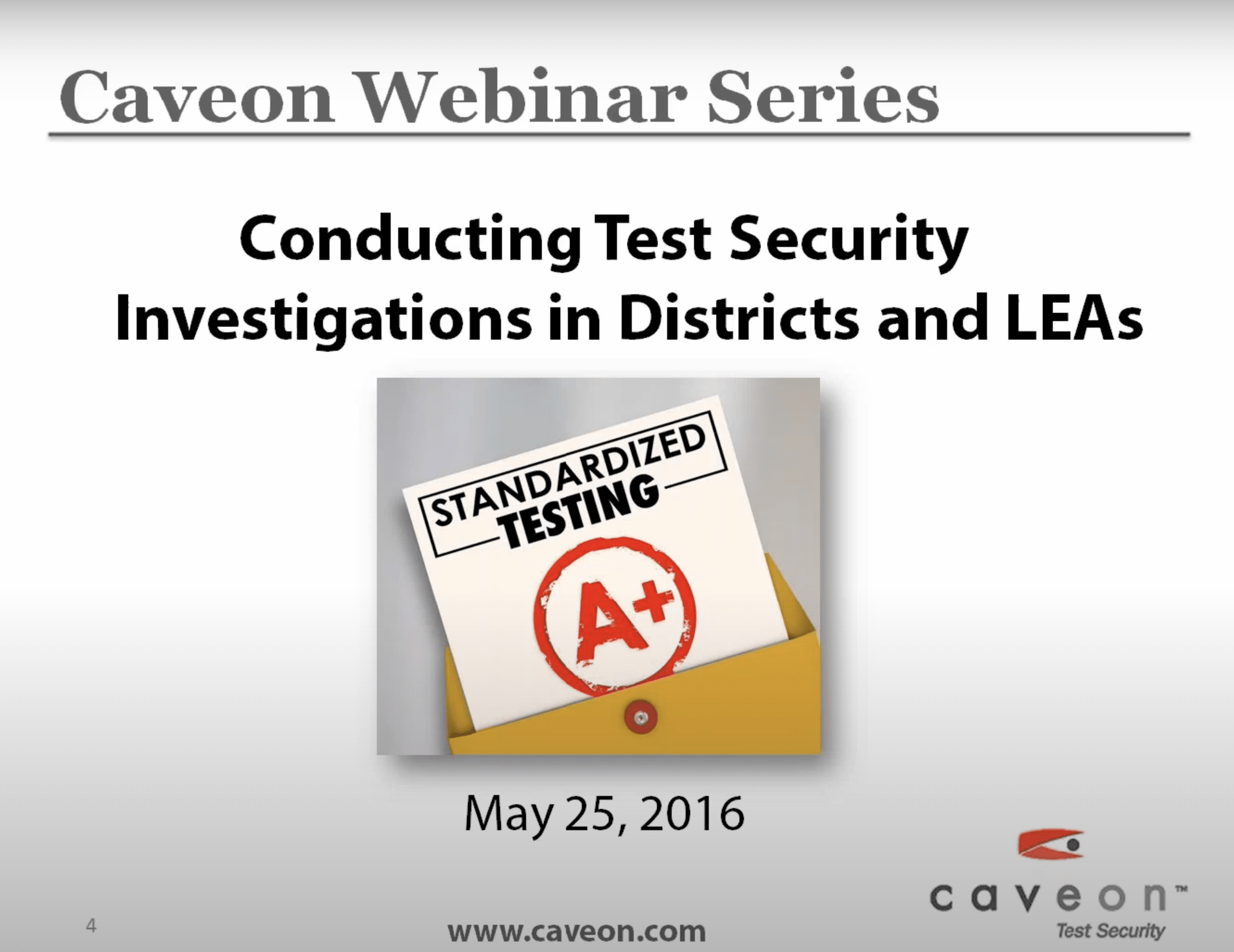 Conducting Test Security Investigations in Districts and LEAs