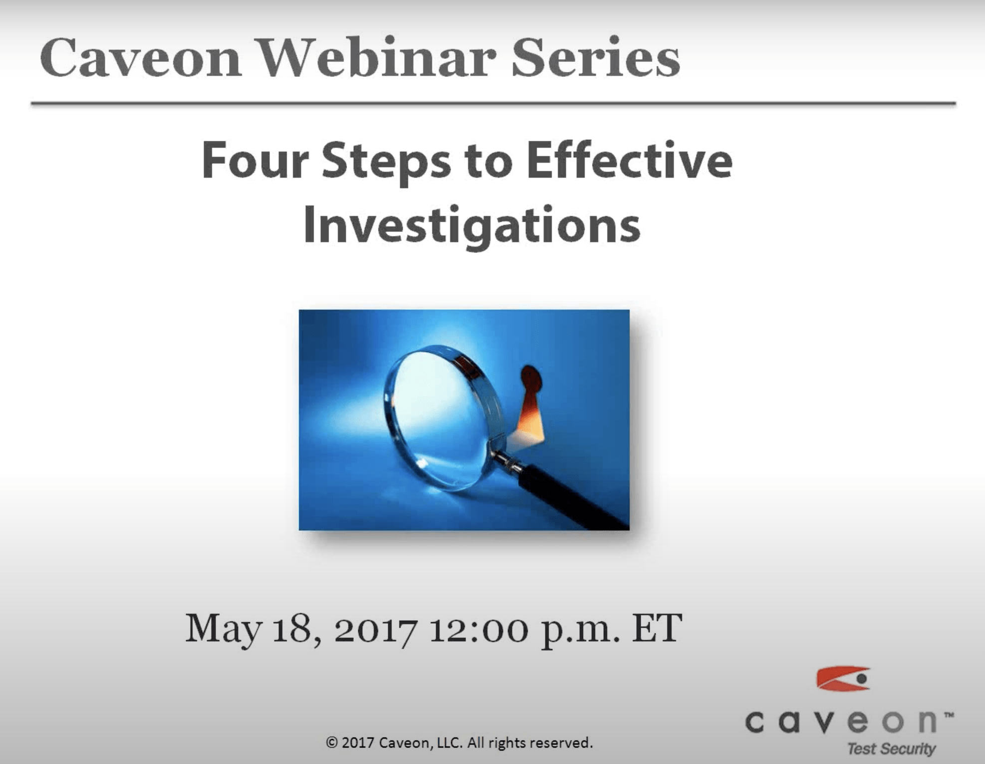 Four Steps to Effective Investigations