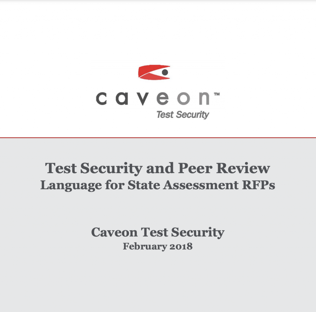 Test Security and Peer Review, Language for State Assessment RFPs: White Paper
